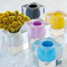 Jonathan Adler Bel Air Mini Scoop Vase Yellow #zincdoor