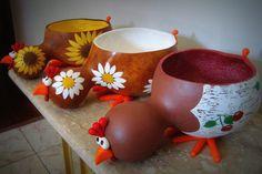 artesanato galinhas em cabaça deitada passo a passo - Pesquisa Google