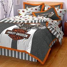 Harley Davidson Queen Bedding In 2020 Harley Davidson Bedding Harley Davidson Decor Harley Davidson