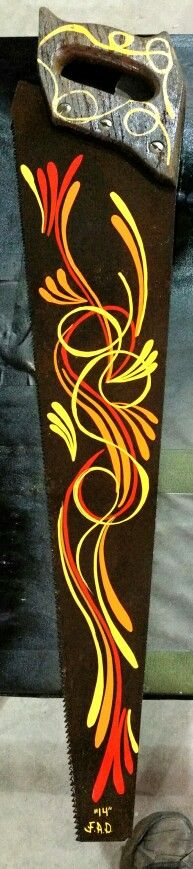 Pinstriped scroll design by FULTZ AUTOMOTIVE DESIGNS