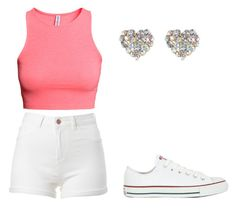"""""""Her Love"""" by tiaramb11 ❤ liked on Polyvore featuring H&M, Converse and River Island"""