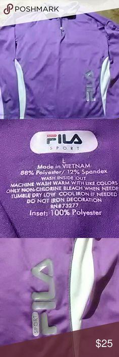 Fila sz LG quarter zip pullover jacket In excellent condition Fila Jackets & Coats