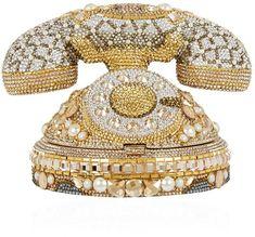 Judith Leiber Rotary Phone Clutch Bag, Gold, One Size Judith Leiber, Cl Fashion, Womens Fashion, Fashion Trends, Fashion Bags, Fashion Details, Gold Handbags, Purses And Handbags, Luxury Handbag Brands