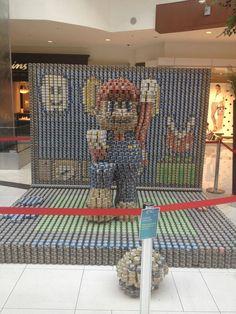 Super Mario Canned Food Display