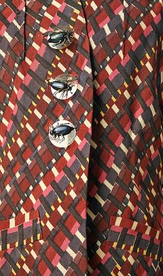 Suit (image 3 - detail) | House of Schiaparelli | French | fall 1938 | synthetic | Metropolitan Museum of Art | Accession Number: 1974.338.5a, b