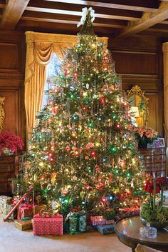 Victoria Magazine - We're welcoming December and honoring our tenth anniversary with ten of our favorite Christmas trees gleaned from a decade of holiday issues, all sure to inspire your season of Yuletide decorating. Christmas Scenes, Noel Christmas, Christmas Lights, Xmas, Homemade Christmas, Christmas Ornaments, Winter Christmas, Christmas Presents, Christmas Crafts