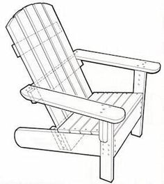You wonder how to make An Adirondack Chair that would look good on any deck or in any garden?   Buildling an Adirondack chair can be done ea... #AdirondackChair