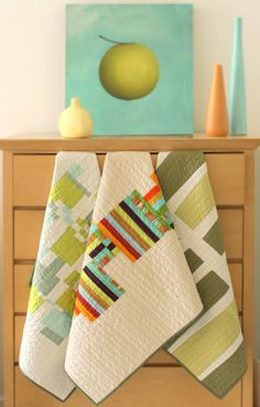 Beautiful Contemporary Baby Quilt $135.00, via Etsy.