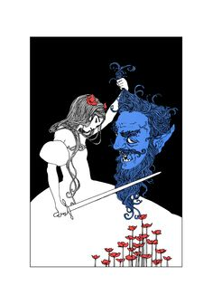 Tamarind I and Tamarind II (The Blue Beard) http://artoftrungles.tumblr.com/post/84830624909/tamarind-i-and-tamarind-ii-the-blue-beard-two