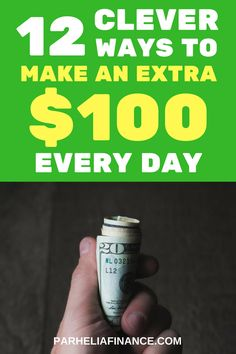 There are tons of ways to make extra money. Check out these 12 ways to make $100 a day. You can even earn more than $100 every day with some of these. Click through to learn more! #waystomakemoney #makemoremoney #makemoneyfromhome #makemoneyonline #sidehustle #personalfinance