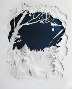 Marina Adamova, White Winter Luxury Project on Behance Kirigami, Diy And Crafts, Arts And Crafts, Paper Crafts, Xmas Crafts, Paper Cutting, Minecraft Decoration, Diy Decoration, Paper Engineering