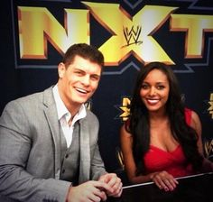 Cody Rhodes & his wife Brandi (Eden) at NXT!! THE PAINNNNNNN