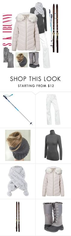 """winter vacay"" by nickiefinn ❤ liked on Polyvore featuring Völkl, The North Face, Miss Selfridge, Sebastian Professional, Rossignol and Bloomingdale's"