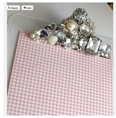 blinged out clipboard - an event planner's accessory :)