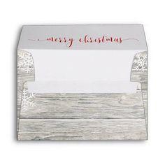 Retro Tree Baubles Side Envelope Business Envelopes Custom Unique