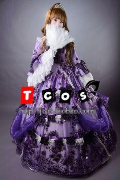 Lady Oscar Lolita Gótico Palacio Uniformes Cosplay Cosplay Del Partido Viste El Envío Libre
