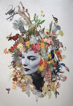 Maria Rivans is a contemporary British artist, known for her mash-up of Surrealism meets Pop-Art. Series include Pin-ups, Landscapes, Film Stills and Box Collages. Collage Artists, Collages, Face Collage, Gcse Art, Surreal Art, Art Plastique, Art Inspo, Screen Printing, Pop Art