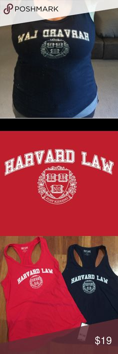 Harvard law JK Tank Harvard Law Um-Uh-No Just Kidding tank. Super soft tank. Fitted tank. 60% cotton 40% Polyester. These tanks are amazing and absolutely hilarious.  I am obsessed Lewboutiquetwo Tops Tank Tops
