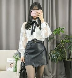 Korean fashion. Style skirt outfits like you would be comfortable  wearing it skirt lenght #KoreanFashion