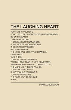 Laughing Heart #Quote
