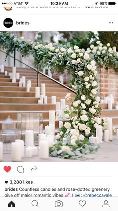 Candles down the aisle