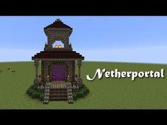 Minecraft Wunschtutorial - Netherportal by Thomas Schleginski Minecraft Bauwerke, Minecraft Portal, Minecraft Survival, Minecraft Construction, Amazing Minecraft, Minecraft Tutorial, Minecraft Crafts, Minecraft Designs, Youtube Minecraft