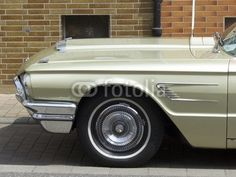 Motorhaube eines hellgrünen Ford Thunderbird Sportwagen der Sechziger Jahre bei den Golden Oldies in Wettenberg Krofdorf-Gleiberg bei Hessen in Deutschland