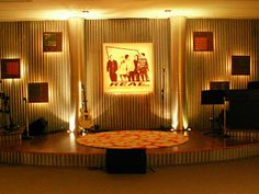 stage..... corrugated metal background