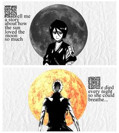 This is the best thing I have seen in a long time...(Only bleach fans would get the sun and moon thing, though)