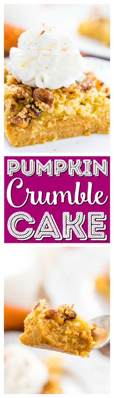 This Pumpkin Crumble Cake is the perfect alternative to pumpkin pie, this dessert's amazing layers will impress the whole family! #pumpkin #cake #dessert