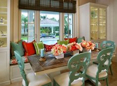 House of Turquoise: Studio M Interior Design Love the chairs