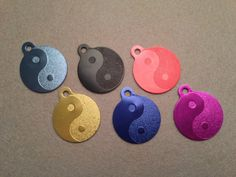 Laser Engraved Ying Yang Dog or Cat Pet ID Tag by SPCustomAluminum, $7.00