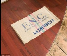 Rug upcycled from a fire hose!
