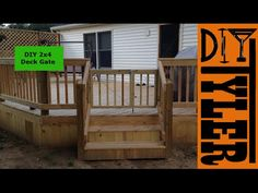 Easy Sliding Gate for your Deck - YouTube