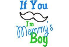 MustacheMommyBoyMustache Mommy Boy 6X10 Hoop
