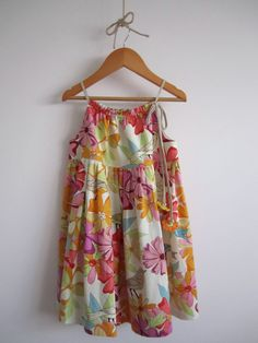 Girls Linen Dress Birds and Flowers baby toddler by ChasingMini, $45.00