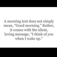 Good morning my darling...