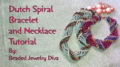 Dutch Spiral Bracelet and Necklace with Super Uno Beads ~ Seed Bead Tutorials