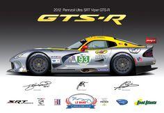 SRT Motorsports Viper GTS-R Vector Illustration by Steven Dahlen at www.stevendahlen.com