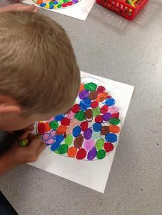 2nd Grade Bubble Gum Machines with Oil Pastels, Repetition, and Shapes! #artsedchat
