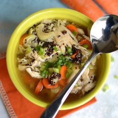 Chicken Quinoa Soup - Fit Foodie Finds