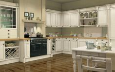 Kitchen Cabinet Design for Small Apartment with Fresh Look : Pretty White Kitchen Cabinets Designs Laminate Floor Wooden Dining Table. Cream Colored Kitchen Cabinets, Paint For Kitchen Walls, Solid Wood Kitchen Cabinets, Painting Kitchen Cabinets White, Kitchen Cabinets Pictures, Refacing Kitchen Cabinets, Kitchen Cabinet Colors, Kitchen Colors, Kitchen Decor