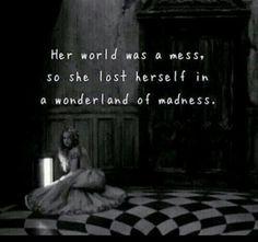 Image via We Heart It #girl #mess #sad #wonderland #world