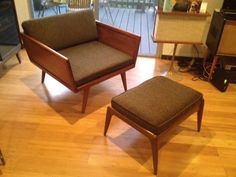 Check it out! Mid Century Danish Chair and Ottoman -- Unique! in Lucerne - Higuera, Culver City on Krrb!