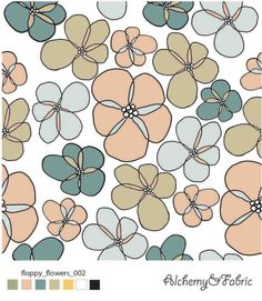 FLOPPY FLOWERS ON WHITE  floral , floral pattern , floral design , flower design Flower Designs, Floral Design, Kids Rugs, Alchemy, Flowers, Fabric, Pattern, Home Decor, Tejido