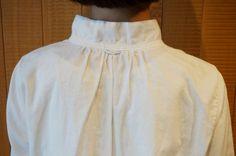 ローン二重織パフィーウォッシュスタンドカラー長袖シャツ パラスパレス