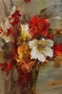 Amaryllis by Laura Robb Oil ~ 18 x 12