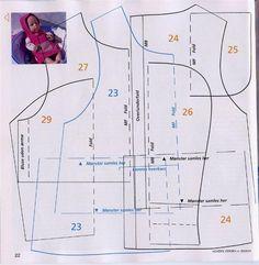 Одежда для куклят - выкройки и схемы / Мастер-классы, творческая мастерская: уроки, схемы, выкройки кукол, своими руками / Бэйбики. Куклы фо...