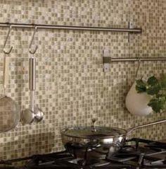 Gorgeous, Inspirational Kitchen Backsplashes [30 Pictures]: Glass/Stone Mosaic Kitchen Tile Backsplash
