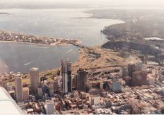 Perth with the Bankwest Tower under construction, 1987.